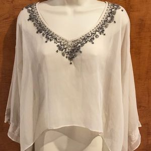 Abercrombie & Fitch Sheer Embellished Blouse